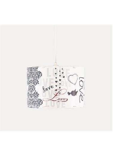 Şenay Aydınlatma Silindir Pvc Sarkıt Avize-Beyaz Love Renkli